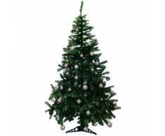 Künstlicher Weihnachtsbaum inklusive 100er Baumkugel-Set in Silber Tannenbaum mit Christbaumständer