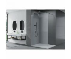 Duschabtrennung Walk-In Nano Echtglas EX101 - Klarglas - Breite wählbar 800mm