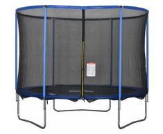 HOMCOM® Trampolin mit Sicherheitsnetz Gartentrampolin Stahl Ø305 x 248H cm