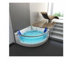 Home Deluxe - Whirlpool Badewanne Atlantic L | Eckwanne, Whirlwanne, Indoor Jacuzzi