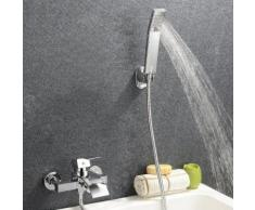 Wannenarmatur Chrom Design Zeitgenössische Wasserfall Badewanne Wasserhahn - Wandhalterung mit