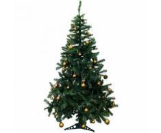 Künstlicher Weihnachtsbaum inklusive 70er Baumkugel-Set in Gold Tannenbaum mit Christbaumständer