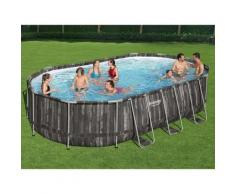 Power Steel Swimmingpool-Set Oval 488x305x107 cm - Bestway