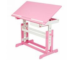 Kinderschreibtisch - Computertisch, Bürotisch - pink