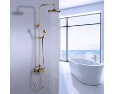 Auralum Duschsystem mit schwenkbarer Duscharm für die Wandmontage | Badzimmer Duscharmatur inkl.
