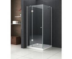 Duschkabine RECREO 90 x 90 x 190 cm ohne Duschtasse