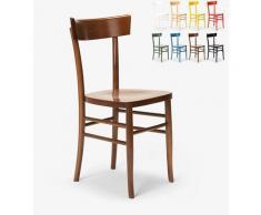 Klassischer Rustikaler Holzstuhl für Esszimmer Küchenbar Restaurant Milano | Braun