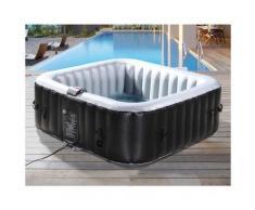 Aufblasbarer Whirlpool NICE aus PVC - 6 Personen - Grau/Schwarz