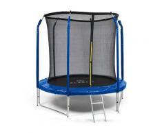 Klarfit - Jumpstarter Trampolin 2,5m Ø Netz 120kg max. dunkelblau