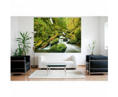 Vlies Fototapete Wasserfall im Wald