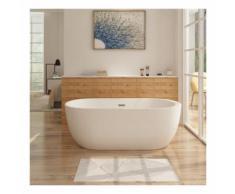 Freistehende Badewanne FRISANGE Design - aus Acryl in Weiß 150x75 cm