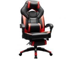 Gamingstuhl, Bürostuhl mit Fußstütze, Schreibtischstuhl, ergonomisches Design, verstellbare