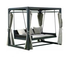 Pavillon Gartenliege Provence I Hollywoodschaukel, Doppel-Gartenliege, Lounge-Pavillon - Home Deluxe