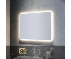 Badspiegel LED mit Beleuchtung Badezimmerspiegel Wandspiegel Lichtspiegel 80x60