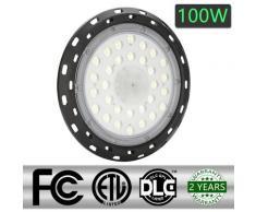 100W LED UFO Industrielampe 6000-6500K Hallenstrahler led Aluminiumgehäuse Hallenleuchte