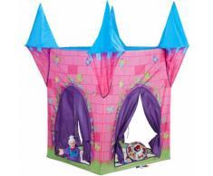 Relaxdays Spielzelt Schloss, Kinderzelt Mädchen, Kinderspielzelt Prinzessin, ab 3 Jahre, HxBxT: 132