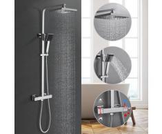 Duschesystem mit Thermostat Regendusche Duschset, Dusche Armaturen Badewanne Wasserhahn Thermostat