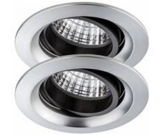 Paulmann 926.77 2er Set Einbauleuchten Daz LED Set 2x7W schwenkbar Alu inkl. LED