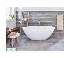 Freistehende Badewanne Piemont Medio aus Mineralguss in glänzend von - Bädermax