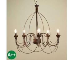 Kronleuchter aus Metall dimmbar für Wohnzimmer & Esszimmer von Lampenwelt