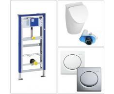 Bäder Boutique - Villeroy & Boch O.Novo Urinal Set Geberit mit CeramicPlus in chrom