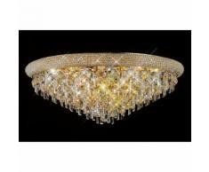 09-diyas - Deckenleuchte Alexetra 16 Glühbirnen Gold / Kristall