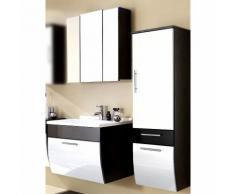 Badezimmer-Set TALONA-02 Hochglanz weiß, anthrazit, 70cm Waschtisch, B x H x T ca.: 130 x 200 x