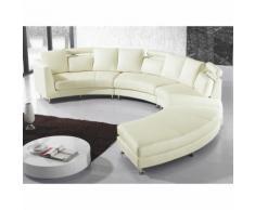 Beliani - Sofa Creme Echtleder U-Förmig Lounge Modern Wohnzimmer