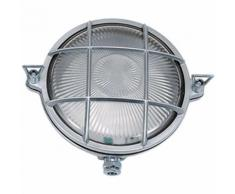 Schiffsleuchte Außenwandlampe Messing Riffelglas IP64