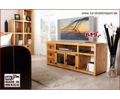 1a Direktimport TV-Tisch Lowboard, Pinie massiv