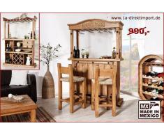 1a Direktimport Mexico Möbel Bar Hausbar XL mit Weinablagen