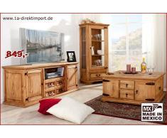 1a Direktimport MEXICO Lowboard, TV-Kommode extra breit - Pinie massiv Möbel