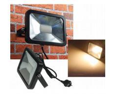 CHILITEC LED Fluter SlimLine 30W warmweiß 2200lm IP44 schwarz EEK:A+