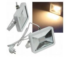 CHILITEC LED Fluter SlimLine 30W warmweiß 2200lm IP44 weiß EEK:A+