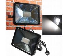 CHILITEC LED Fluter SlimLine 50W neutralweiß 3800lm IP44 schwarz EEK:A+