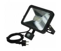 CHILITEC LED Fluter SlimLine 30W neutralweiß 2100lm Bewegungsmelder schwarz EEK:A+