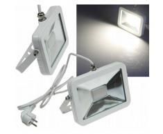 CHILITEC LED Fluter SlimLine 30W neutralweiß 2300lm IP44 weiß EEK:A+