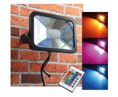 CHILITEC RGB LED Fluter SlimLine 30W Farbwechsel mit Fernbedienung IP44 EEK:A
