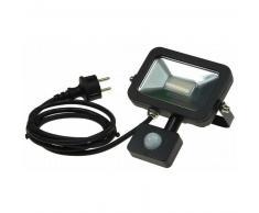 CHILITEC LED Fluter SlimLine 10W neutralweiß 750lm Bewegungsmelder schwarz EEK:A+
