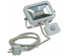 CHILITEC LED Fluter SlimLine 10W neutralweiß 750lm Bewegungsmelder weiß EEK:A+