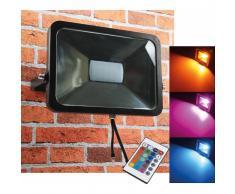 CHILITEC RGB LED Fluter SlimLine 50W Farbwechsel mit Fernbedienung IP44 EEK:A