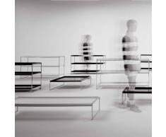 Kartell Trays rechteckiger Tabletttisch, klein, weiß