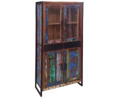 "Vitrine 86x175cm ""Oxford"" recyceltes Altholz"