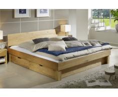 Bett ohne Bettkästen 'Finn' 200x200cm Wildeiche massiv