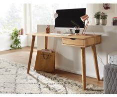 Schreibtisch 120cm 'Alma' Wildeiche geölt FSC 100%