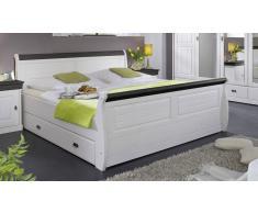 Bett 140x200cm 'Mailand-Kolonial' Kiefer weiß