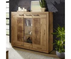 Highboard 150x135cm 'Danzig' Wildeiche geölt