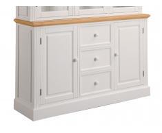 Sideboard 137cm 'Avallon' Paulownia weiß