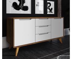 Sideboard 134x65cm 'Retro' Wildeiche & weiß
