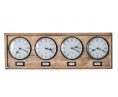 """Wanduhr 76cm """"Time"""" Massivholz"""